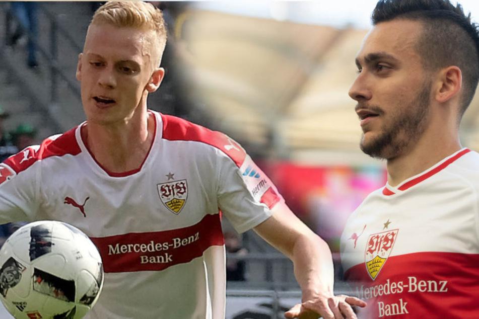 Kehren gegen Augsburg in den VfB-Kader zurück: Timo Baumgartl (l.) und Anastasios Donis (r.). (Fotomontage)