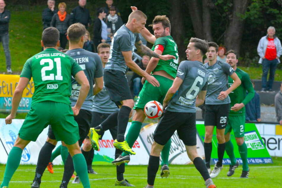 Im Ligaspiel musste sich die BSG in Auerbach 0:3 geschlagen geben.