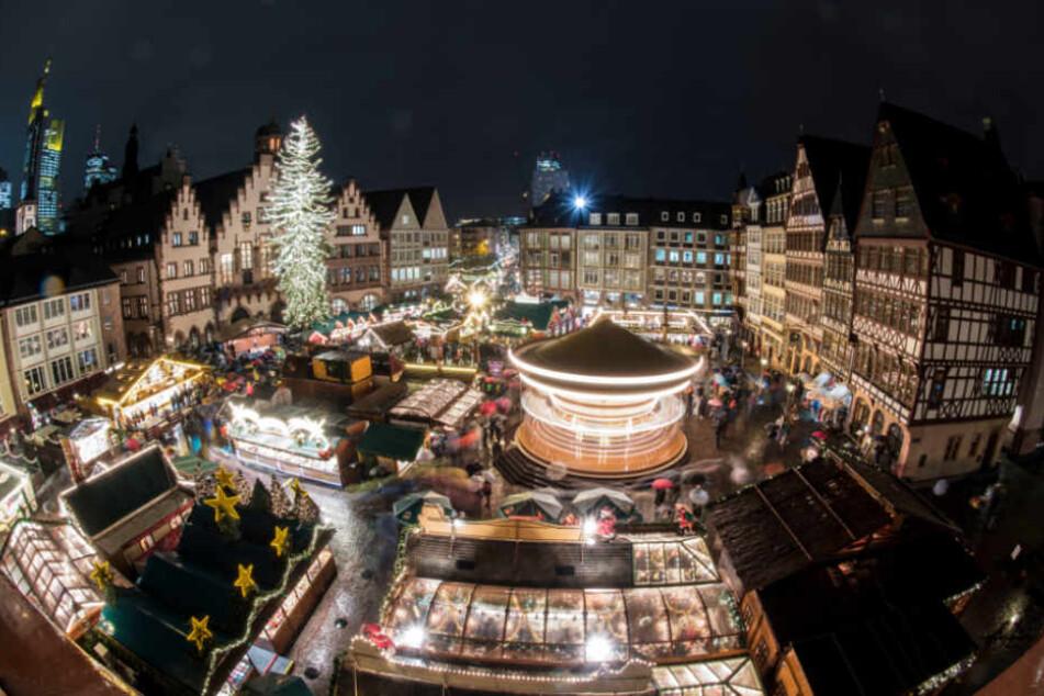 Der Frankfurter Weihnachtsmarkt muss dieses Jahr ein Umsatzminus zum Vorjahr verbuchen.