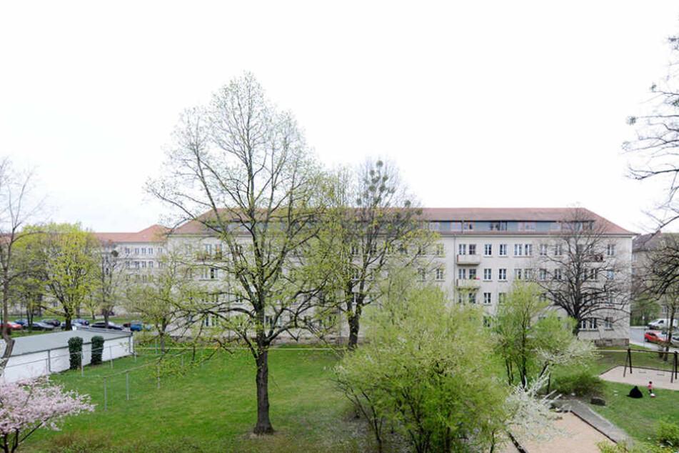 In diesem Hinterhof nahe der Grunaer Straße will die Vonovia bauen.