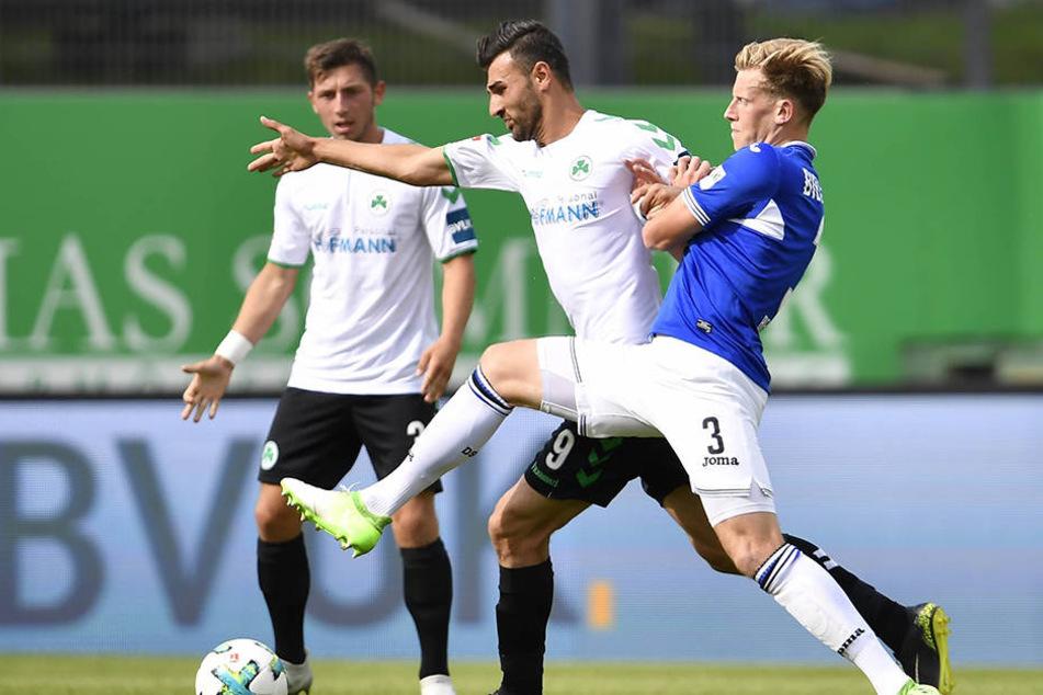 Im zweiten Spiel der Saison kam Behrendt für Stephan Salger zum Einsatz.