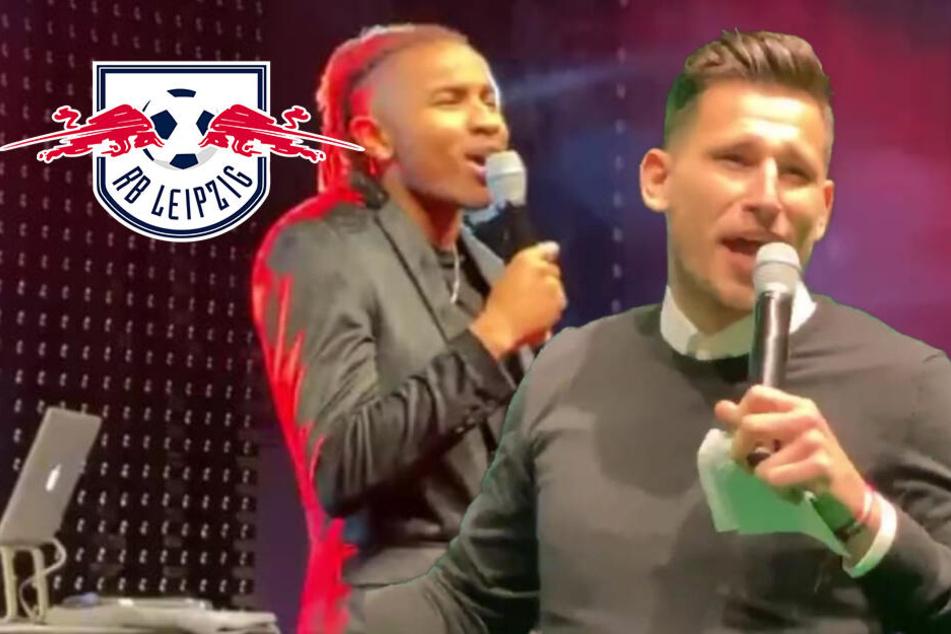 Weihnachtsfeier bei RB Leipzig: Welcher Spieler welches Lied gesungen hat