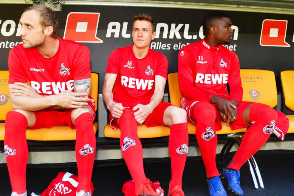 Bei den Kölnern hatte Niklas Hauptmann (M.) meist einen Stammplatz auf der Bank.