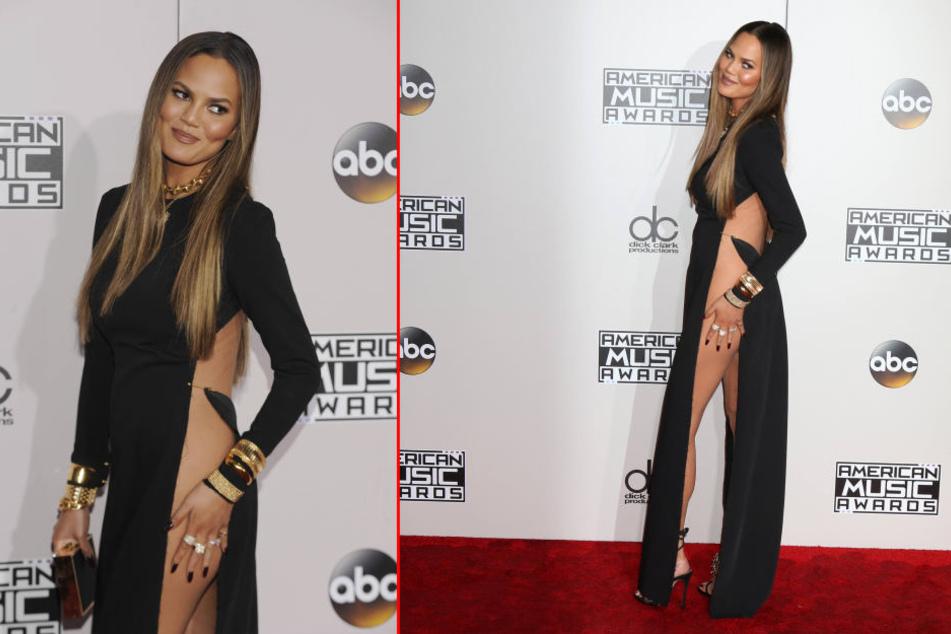 Mit diesem gewagten Red-Carpet-Look sorgte Chrissy Teigen (30) im November für Aufsehen.