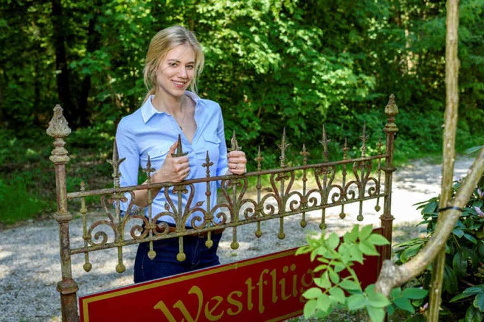 """Larissa Marolt (24) steht seit Montag für """"Sturm  der Liebe"""" vor der Kamera."""