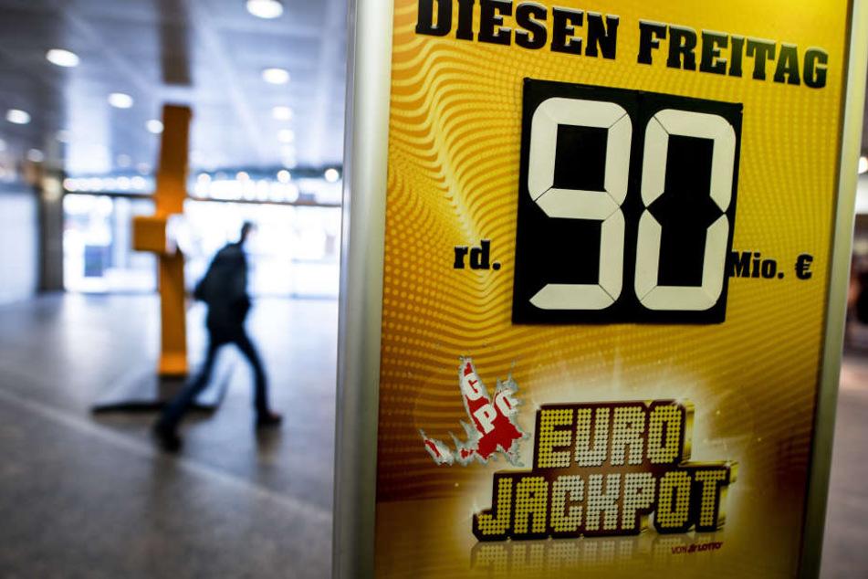 90 Millionen Euro waren im Jackpot.