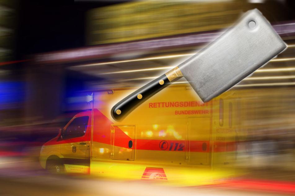 Das Messer traf das Opfer am Hals und an der Hand. (Symbolbild)