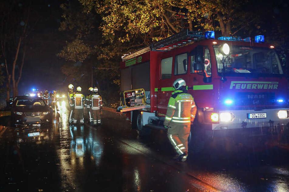 Auch die Feuerwehr war am Ort der Kollision im Einsatz.
