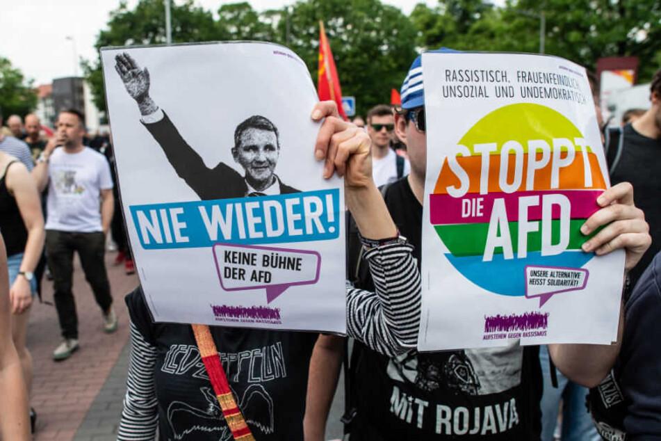 Wie in Münster werden auch in Berlin tausende Gegendemonstranten erwartet.
