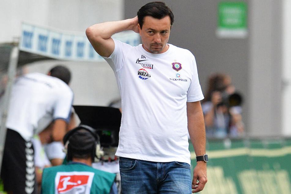Warum musste Daniel Meyer beim FC Erzgebirge Aue wirklich gehen? Vom Verein gibt es dazu keine aussagekräftige Stellungnahme.