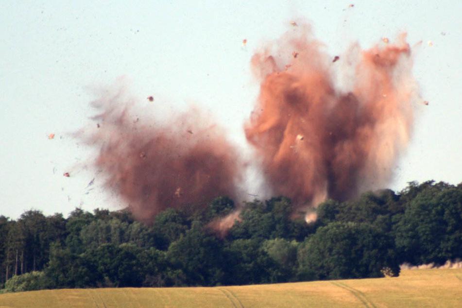 Immer wieder müssen Munitionsfunde auf dem alten Werkgelände gesprengt werden. (Symbolbild)
