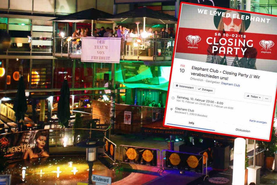 Der Elephant Club am Boulevard schließt am 10. Februar mit einer Closing-Party nach 13 Jahren.