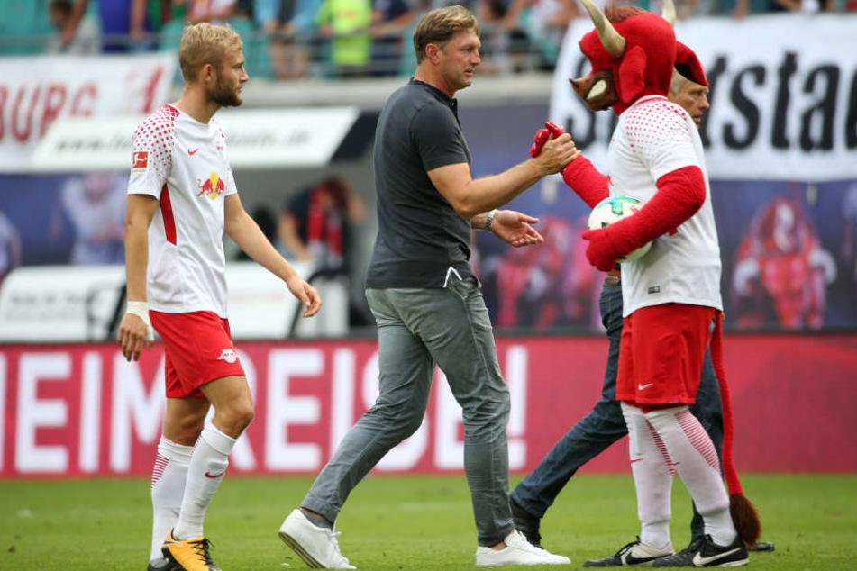 Anders als im RB-Spiel gegen den SC Freiburg musste Konrad Laimer am Samstagabend bei der Nationalmannschaft 90 Minuten auf der Bank schmoren.