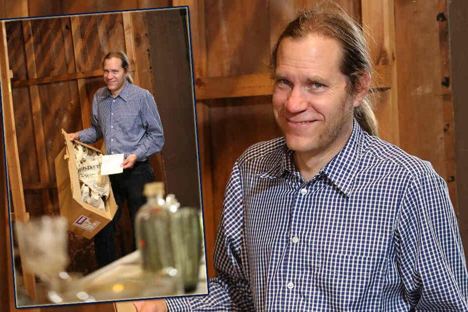 Peter Knüvener (42), Direktor der Städtischen Museen Zittau, entdeckte das Plagiat seiner Kollegen.