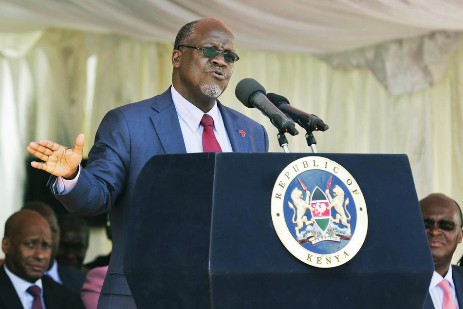 Der tansanische Präsident John Pombe Joseph Magufuli (60) hält eine Rede in Nairobi (Kenia). (Archivbild)