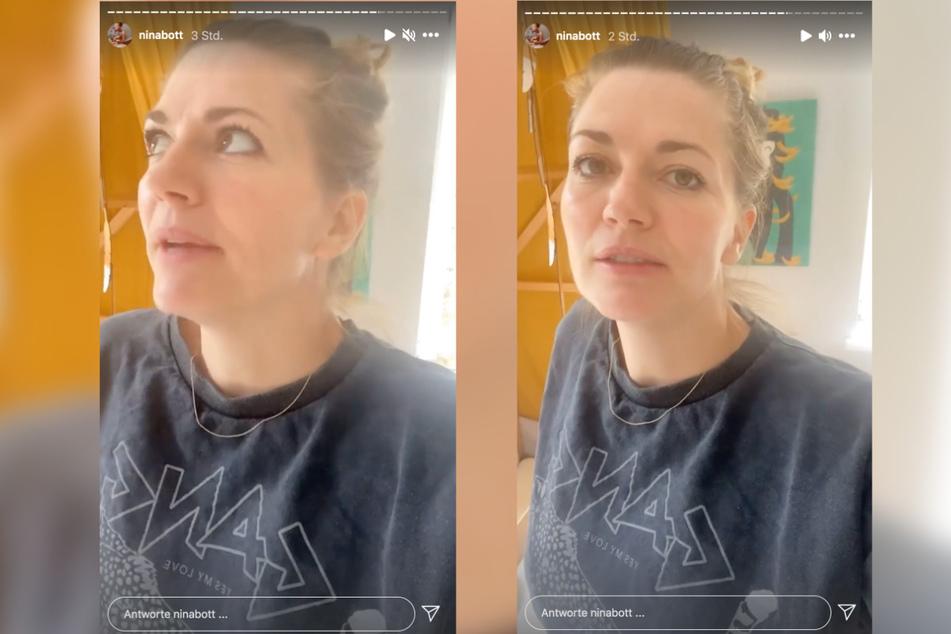 Auf Instagram äußert sich Nina Bott (43) zu dem Corona-Fall in ihrer Familie.
