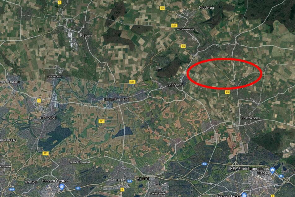 Der Unfall passierte gegen 18.30 Uhr auf der Bundesstraße 45 zwischen Nidderau-Windecken und Bruchköbel-Roßdorf im Main-Kinzig-Kreis.