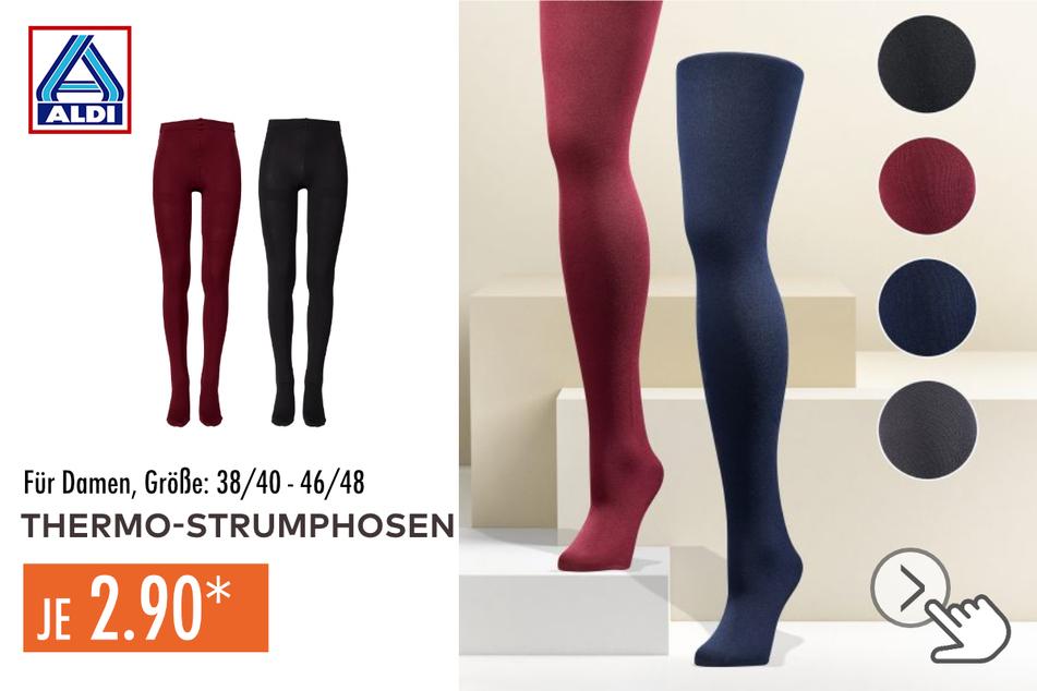 Thermo-Strumpfhose für Damen in den Größen 38/40–46/48 für je 2,90 Euro