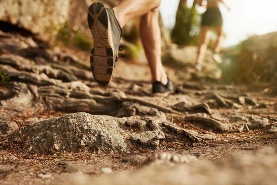Läufer rennen durch felsiger Gelände. (Symbolfoto)