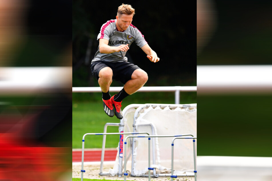 Vollgas beim Training. Marco Hartmann will die Hürde nehmen und seinen Stammplatz im defensiven Mittelfeld zurück.