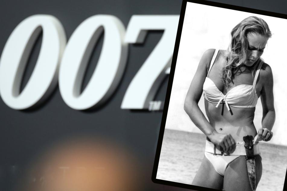 Keiner gab das Mindestgebot von 300.000 Euro für den legendären Bond-Bikini (r.) ab. (Bildmontage)