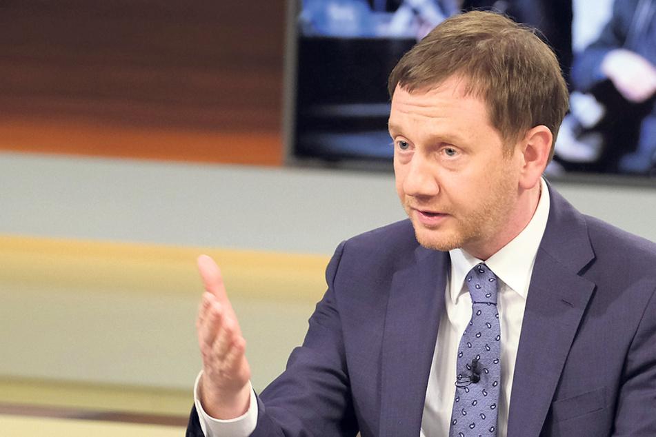 """Dresden: Umstrittene Äußerungen bei """"Anne Will"""": Kretschmer gibt den patriotischen Corona-Hardliner"""