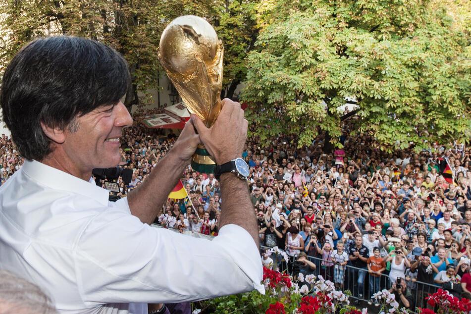 2014 der große Triumph: Joachim Löw führte die deutsche Nationalmannschaft zum Weltmeistertitel.