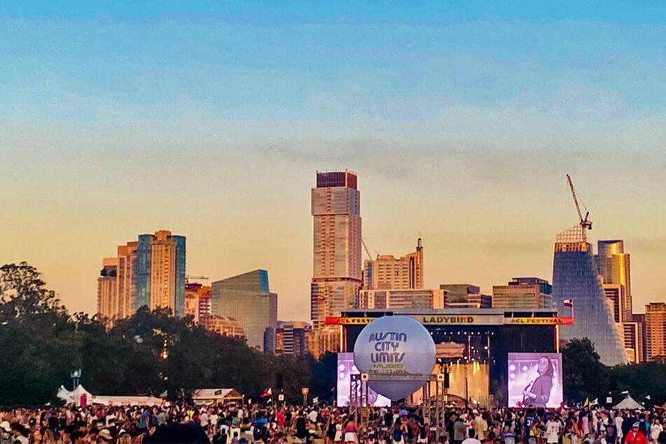 Festival goers filled ZIlker Park for a weekend of live music in Austin, Texas.