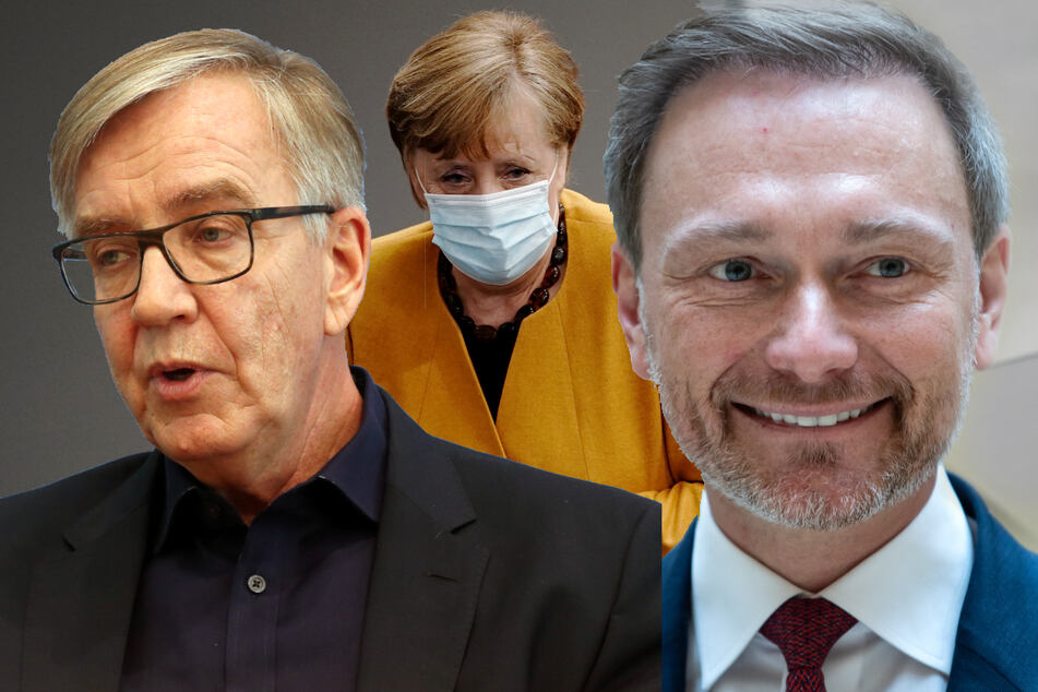 Linksfraktions-Chef Dietmar Bartsch hat sich dafür ausgesprochen, dass Bundeskanzlerin Angela Merkel (66, CDU, Mitte) die Vertrauensfrage stellt. Dafür ist auch FDP-Chef Christian Lindner (42).