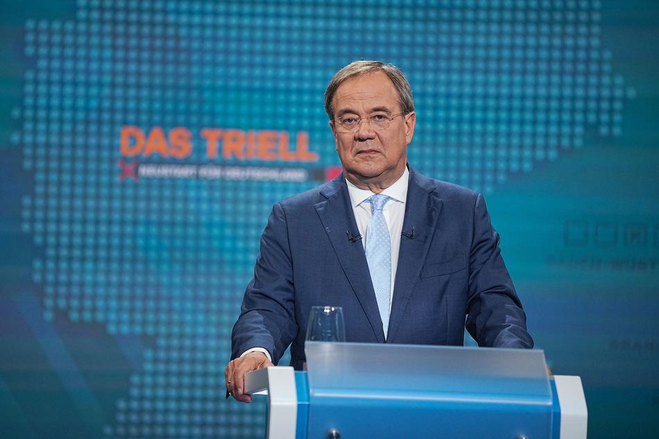 CDU-Spitzenkandidat Armin Laschet attackierte seine Kontrahenten im Laufe der Triell immer wieder.