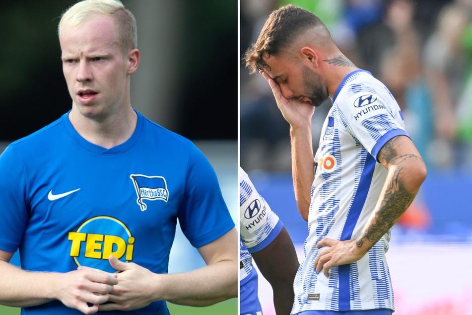 Mit Maolida, Dennis Jastrzembski (22, l.) und Marco Richter (23, r.) hat Hertha BSC nur drei nominelle Außenbahnspieler.