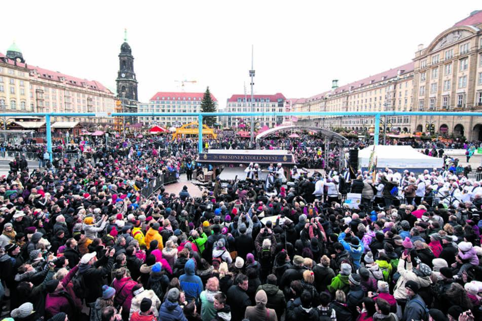 Wo sich vor einem Jahr Tausende Besucher zum Stollenfest drängten, herrschte dieses Jahr Leere.