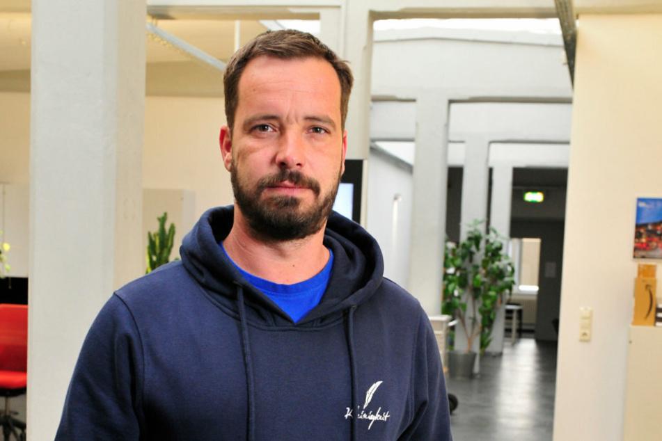 Frank Müller (42) von Kreatives Chemnitz sieht die Künstler- und Event-Branche durch Corona-Verbote in ernster Gefahr.