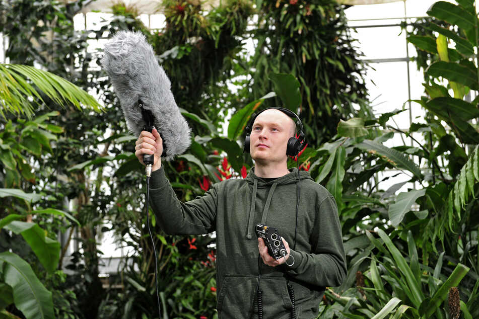 """TU-Forscher Stefan Kahl entwickelte die App """"BirdNET"""". Er fing etliche Vogelstimmen mit einem Richtmikrofon ein (Archivbild)."""