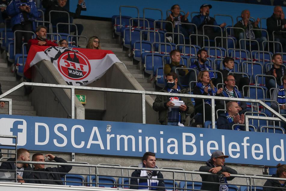 Beim Bundesliga-Spiel in Bielefeld waren 500 Zuschauer zugelassen.