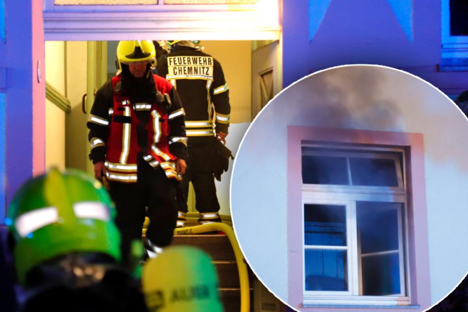 Küche in Chemnitz in Brand geraten: Frau (21) verletzt