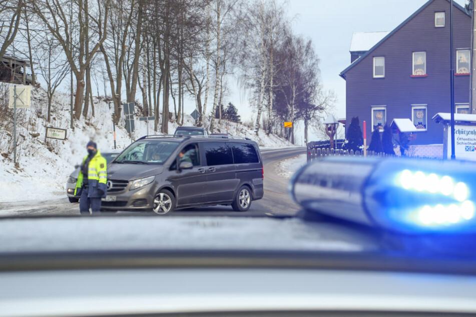 Kontrollen in sächsischen Wintersportgebieten: Polizei will Massenansturm vermeiden