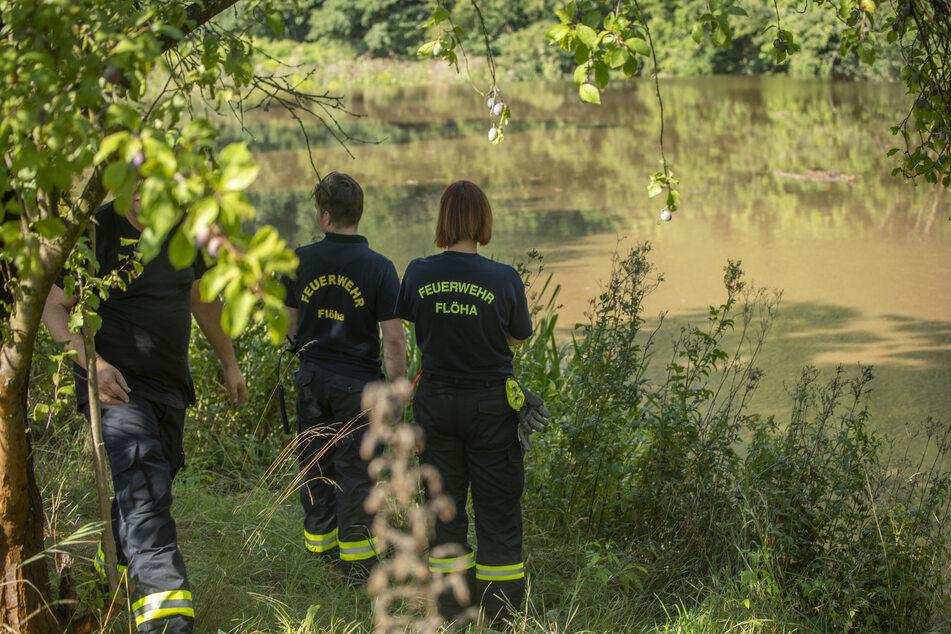 Die Feuerwehr hält Ausschau nach einer Person, die im Bach in Breitenau oder in der Flöha treiben könnte.