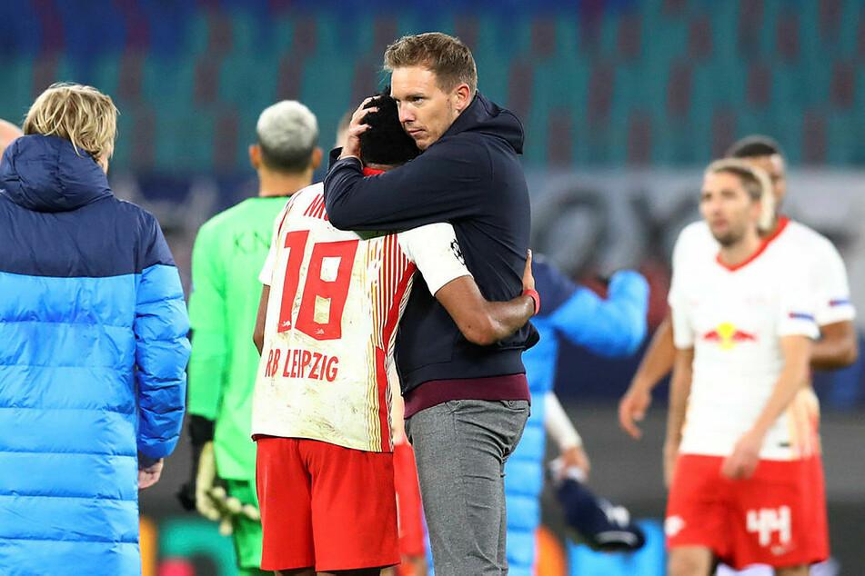 Für den Ex-Pariser Christopher Nkunku und dessen Tor freute sich Trainer Nagelsmann.