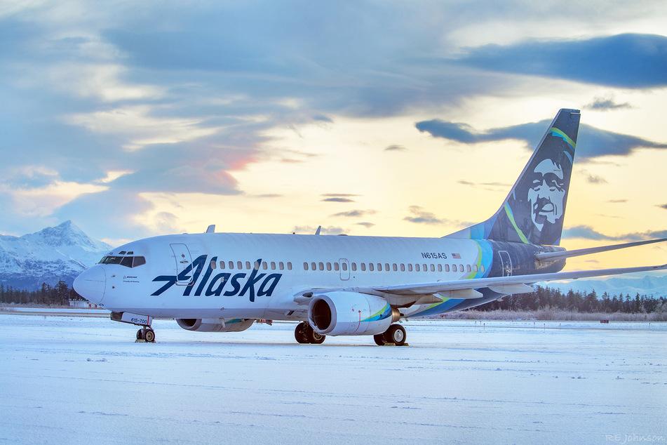 Das Flugzeug kollidierte beim Landen mit einem Braunbären. Das Tier starb. Die linke Triebwerksverkleidung des Jets wurde beschädigt.