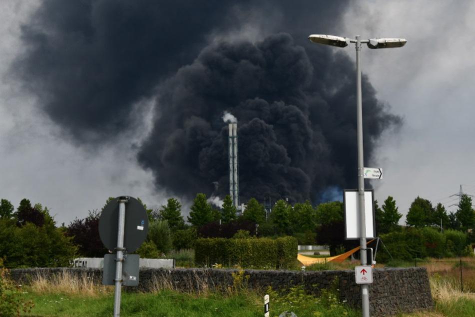 Die Explosion und die folgende Rauchwolke zog Hunderte Meter hoch in die Luft.