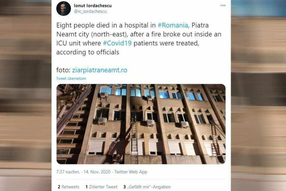 Auf Twitter kursieren erste Fotos des Gebäudes.