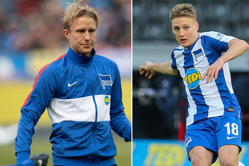 Per Skjelbred (33, l.) verließ Hertha BSC am Saisonende. Santiago Ascacibar (23, r.) hat seine Verletzungsprobleme überstanden.