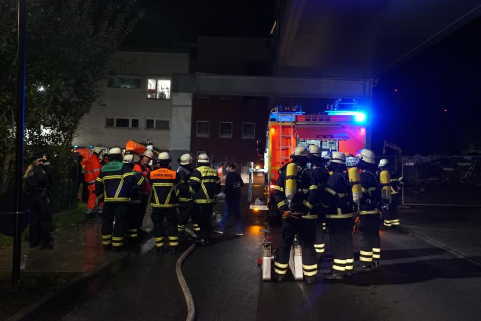Feuer in Bundeswehrkrankenhaus, Notaufnahme voller Rauch