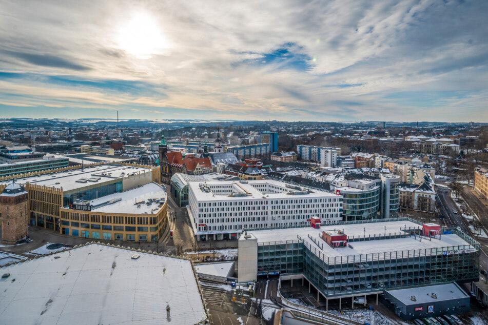 Verträumt eingeschneit - aber nicht allein in der Welt: Chemnitz hat ein Dutzend Partnerstädte, mit Arras und Mulhouse sogar gleich zwei in Frankreich.