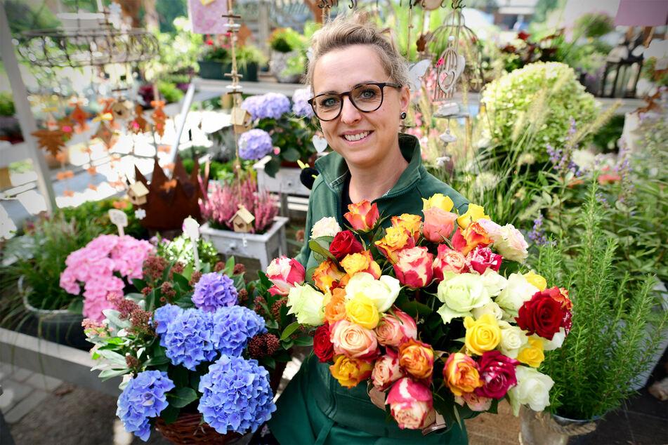 Inzwischen hat Elisa Wohlfahrt von der Gärtnerei Jonathan in Görlitz wieder gut lachen.