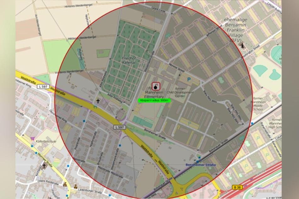 Dieser Radius wird in Mannheim geräumt.