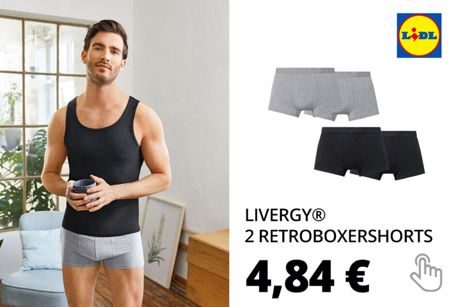 LIVERGY® 2 Retroboxershorts