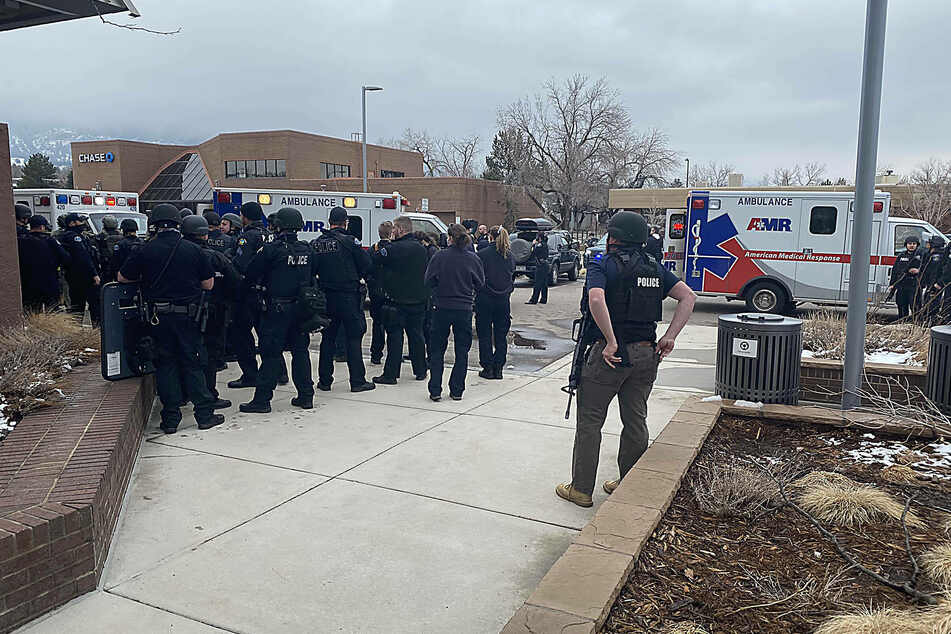 Law enforcement responded to a shooting at a King Soopers grocery store in Boulder, Colorado, on Monday.