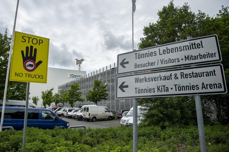 Außenansicht des Fleischwerk Tönnies in Rheda-Wiedenbrück.